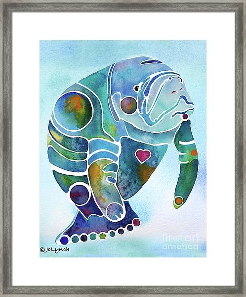 Manatee Blues Framed Print
