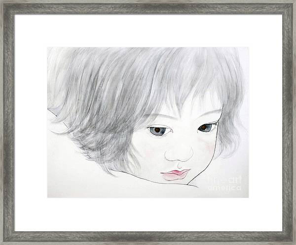 Manazashi Or Gazing Eyes Framed Print