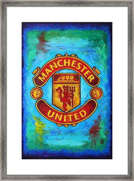 Manchester United Vintage Framed Print