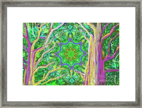 Mandala Forest Framed Print