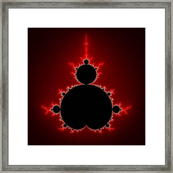Mandelbrot Set Black And Red Square Format Framed Print