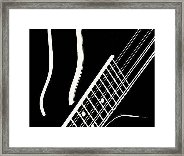 Mandolin Close Bw Framed Print