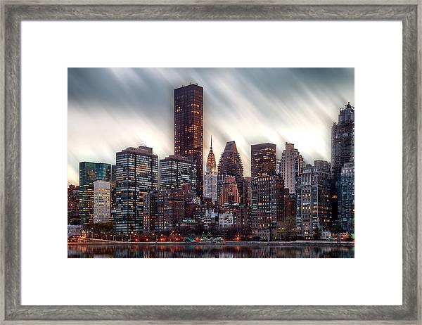 Manhattan Daze Framed Print