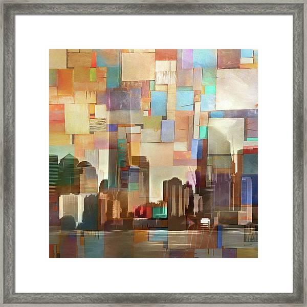 Manhattan Impression Framed Print by Lutz Baar
