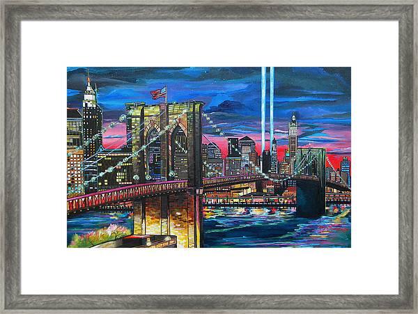 Manhattan Kinda Night Framed Print