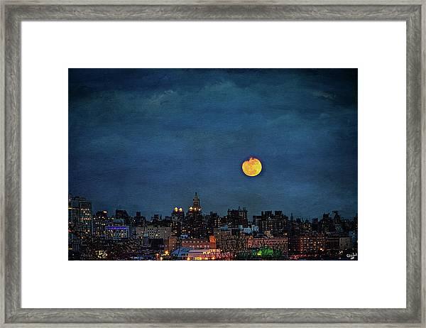 Manhattan Moonrise Framed Print