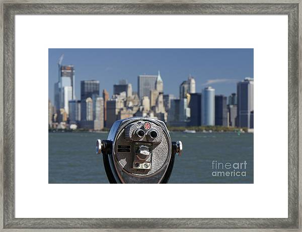 Framed Print featuring the photograph Manhattan Skyline New York  by Juergen Held