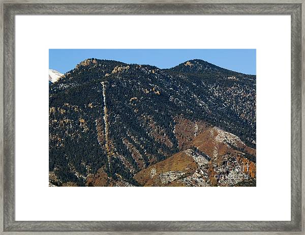 Manitou Incline Photographed From Red Rock Canyon Framed Print
