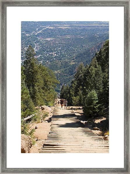 Manitou Springs Pikes Peak Incline Framed Print