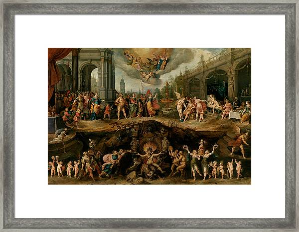 Mankind's Eternal Dilemma, The Choice Between Virtue And Vice Framed Print