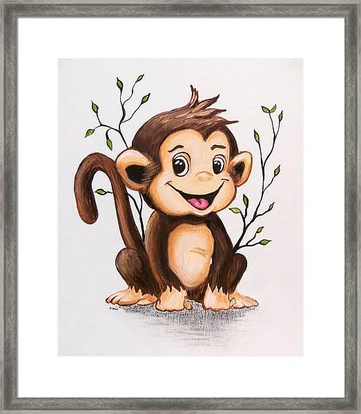Manny The Monkey Framed Print