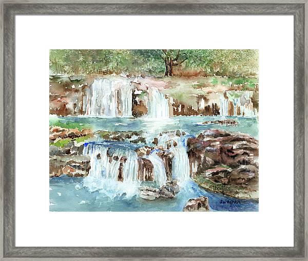 Many Waterfalls Framed Print
