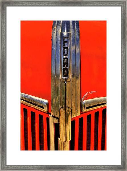 Manzanar Fire Truck Hood And Grill Detail Framed Print
