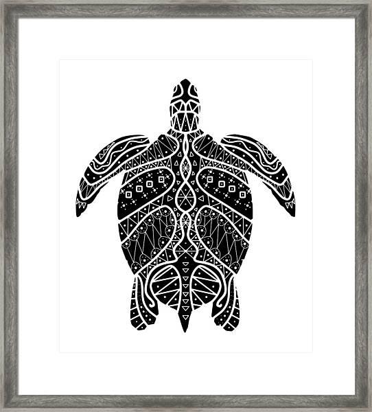 Maori Turtle Framed Print