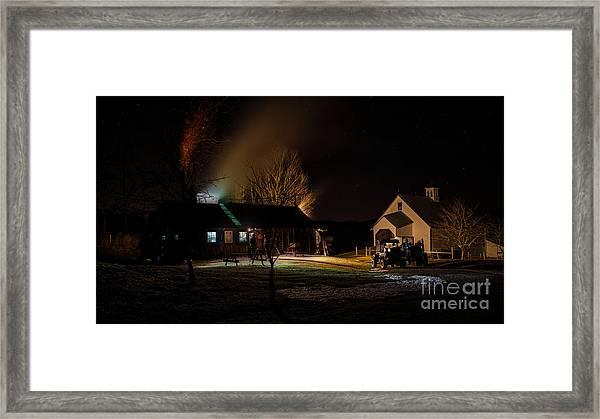 Maple Syrup Season. Framed Print