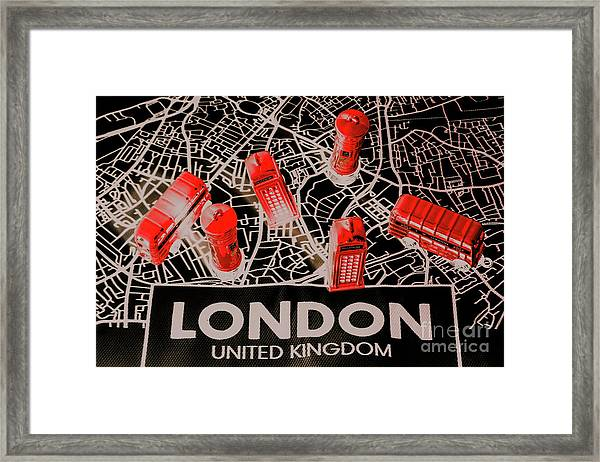 Maps From London Town Framed Print