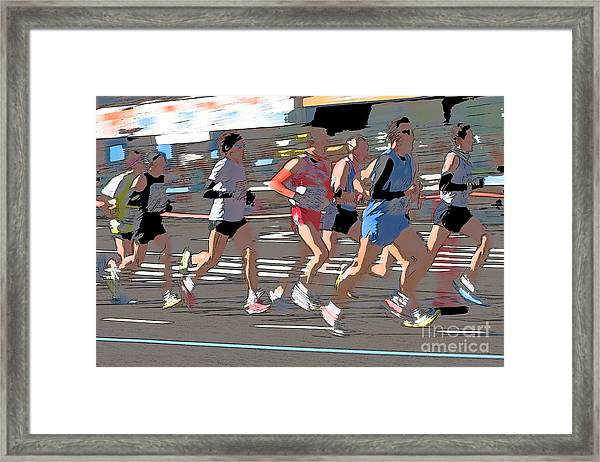 Marathon Runners II Framed Print