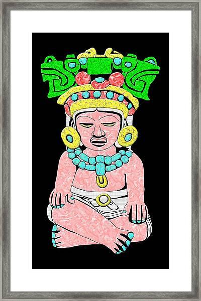 Marble Maya Framed Print