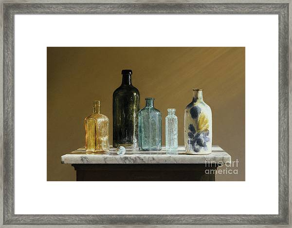 Marble On Marble Framed Print by Barbara Groff