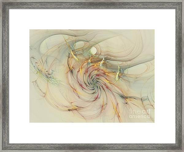 Marble Spiral Colors Framed Print