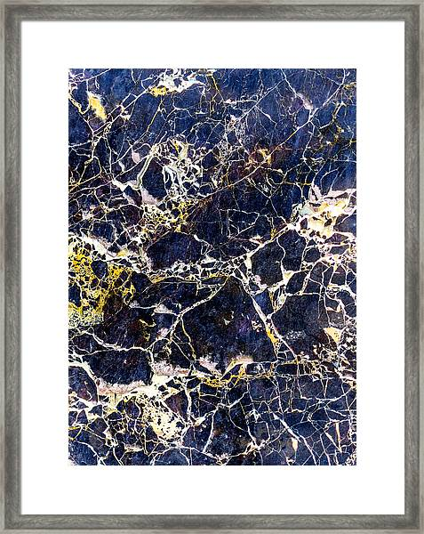 Marble Stone Texture Wall Tile Framed Print