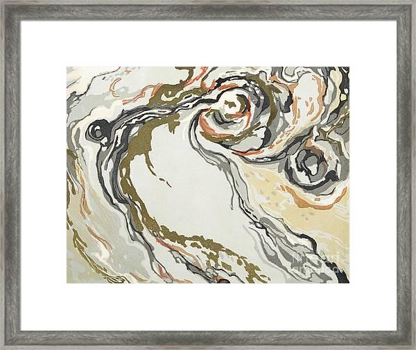 Marbled Pattern Framed Print