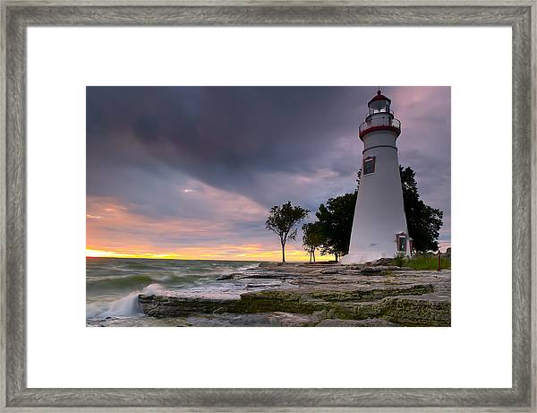 Marblehead Lighthouse At Sunrise Framed Print