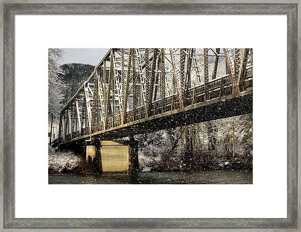 Marblemount Wa Bridge Framed Print