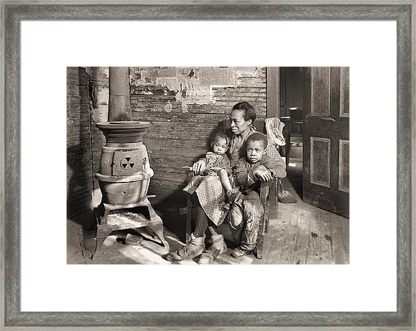March 1937 Scott's Run, West Virginia Johnson Family. Framed Print