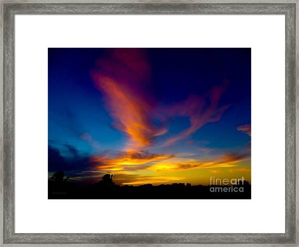 Sunset March 31, 2018 Framed Print