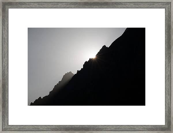 Mountain Sunset Framed Print