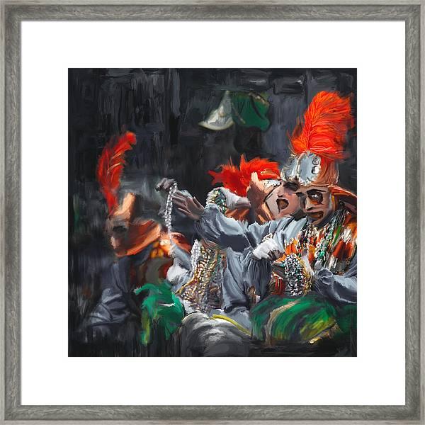Mardi Gras 242 4 Framed Print