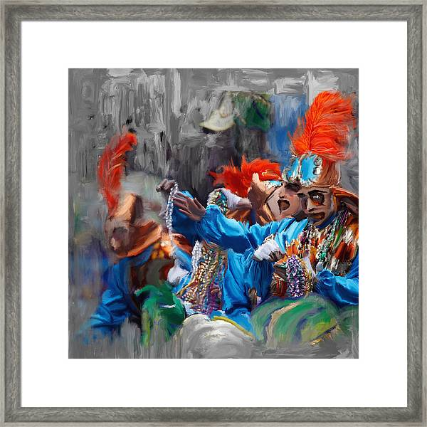 Mardi Gras 242  Framed Print