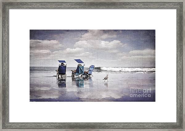 Margate Beach Relaxation Framed Print