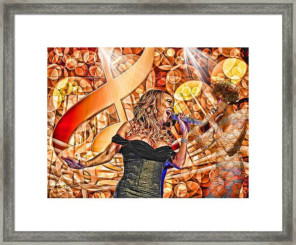 Mariah And Whitney-when You Believe Framed Print
