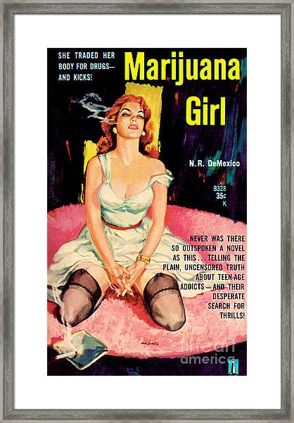 Marijuana Girl Framed Print