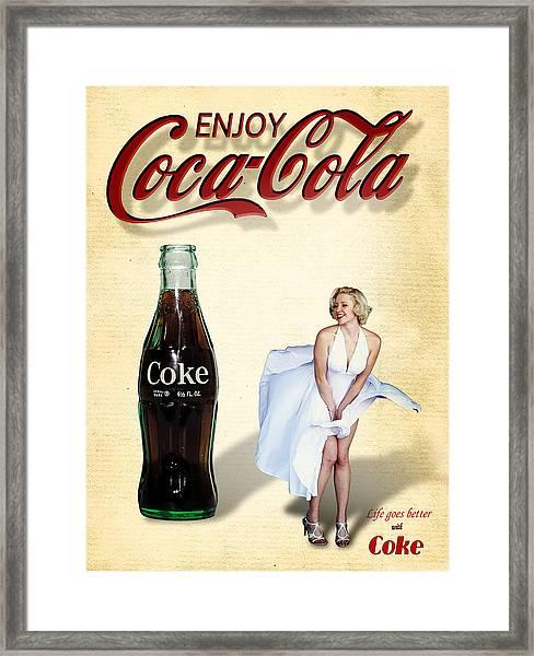 Marilyn Coca Cola Girl 3 Framed Print