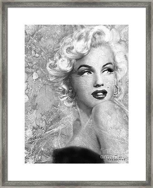 Marilyn Danella Ice Bw Framed Print