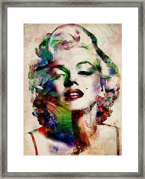 Marilyn Framed Print by Michael Tompsett
