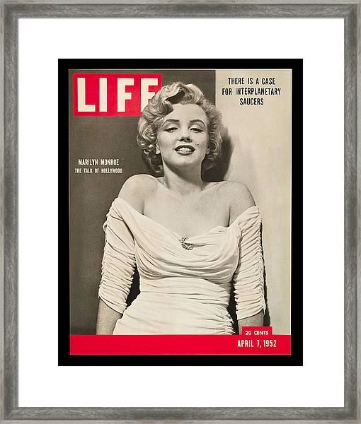 Marilyn Monroe - Life Magazine Cover 1952 Framed Print