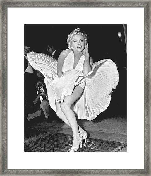 Marilyn Monroe - Seven Year Itch Framed Print
