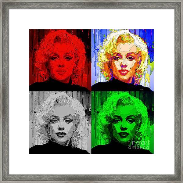 Marilyn Monroe - Quad. Pop Art Framed Print