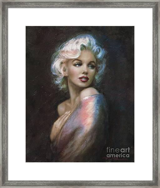Marilyn Romantic Ww 4 Blue Framed Print