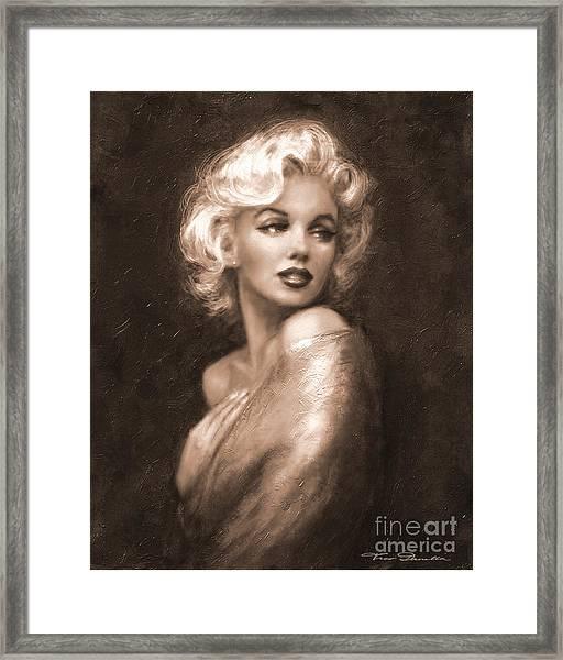 Marilyn Ww Sepia Framed Print