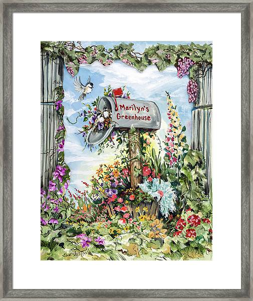 Marilyn's Greenhouse Framed Print