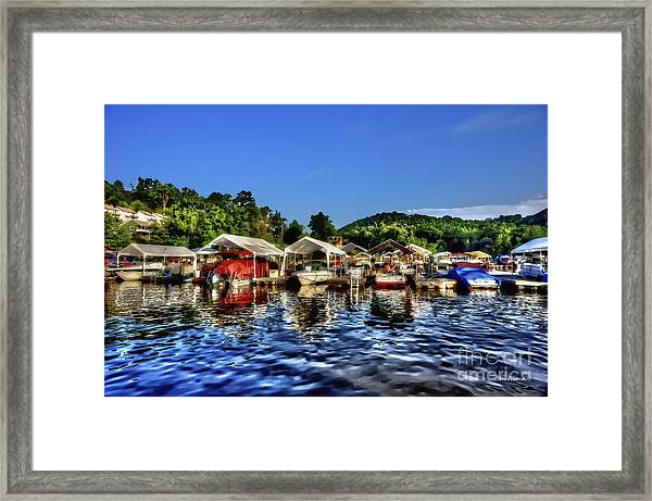 Marina At Cheat Lake Clear Day Framed Print