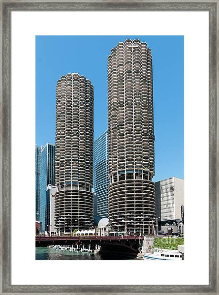 Marina City Framed Print