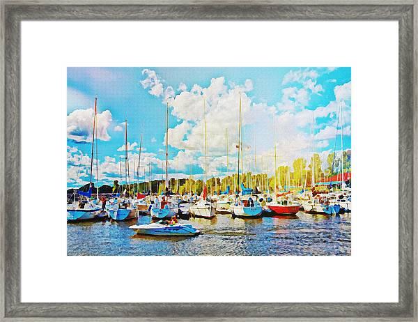 Marina In The Summertime Framed Print