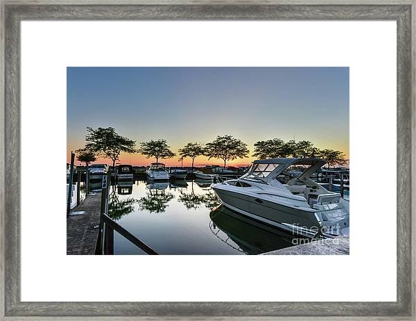 Marina Morning Framed Print