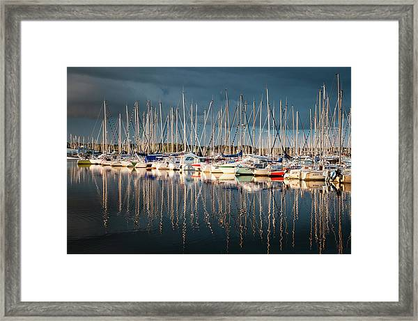 Marina Sunset 4 Framed Print